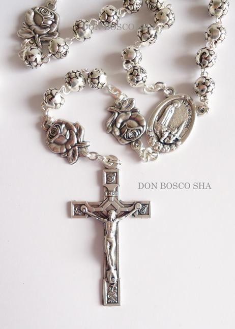 ロザリオ バラの花型珠 銀色 ファティマ                                     [70510530]