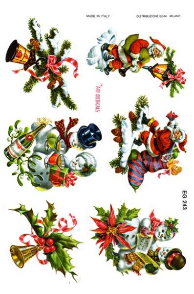 画像1: イタリア製 クリスマスシール EG243 (1)