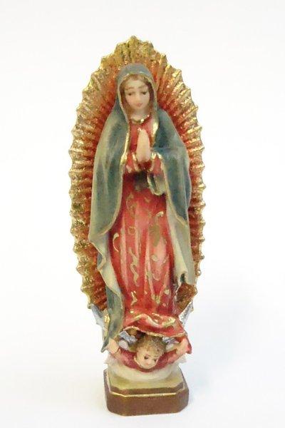 画像1: ご像 木彫り グアダルペのマリア 色付 6.5cm NB (1)