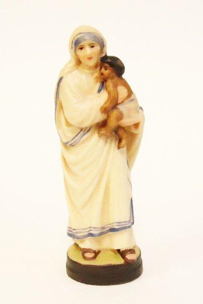 画像1: 木彫り マザー・テレサ像 7cm 色付 NB (1)
