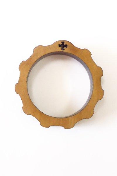 画像1: 指ロザリオ オリーブ製(大)内径22mm 外径29mm (1)