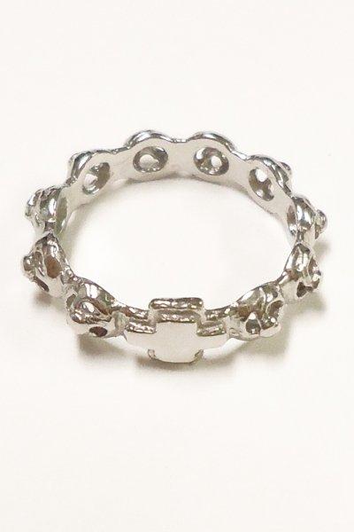 画像1: 指輪 シルバー925 ロザリオ型 バラ 9号 (1)