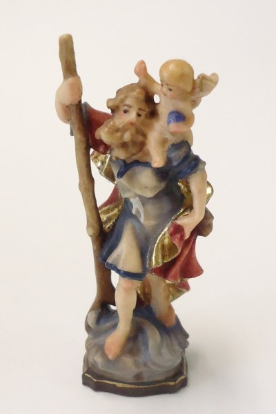 画像1: 木彫り 聖クリストファー カラー (1)
