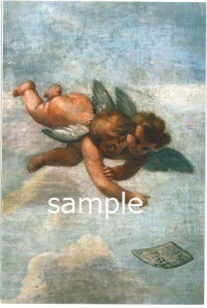 画像1: 二つ折りカード 天使 封筒付き (1)