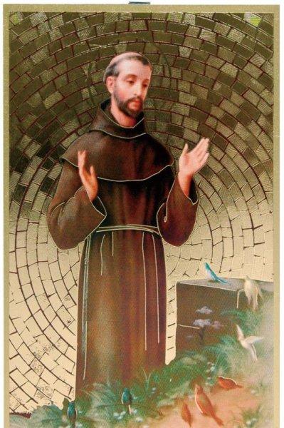 画像1: 壁掛板絵 アシジの聖フランシスコ (1)