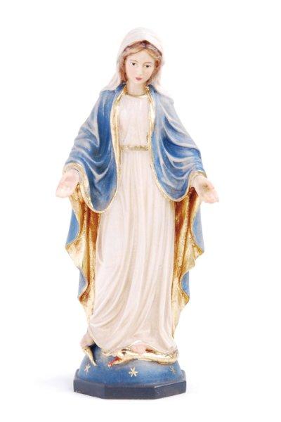 画像1: 木彫り 無原罪の聖母 14.5cm 色付 NB (1)