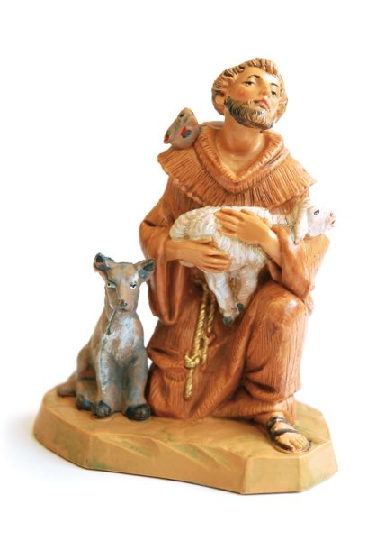 画像1: 樹脂製聖像 アシジの聖フランシスコと動物たち (1)