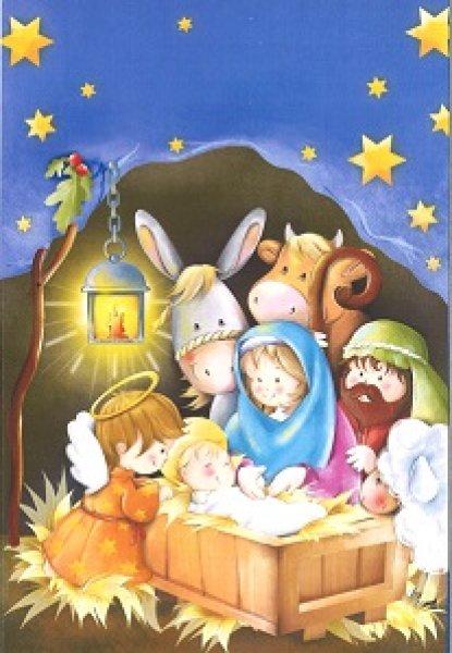 画像1: イタリア製 二つ折り クリスマスカード 06.0638-1 (1)