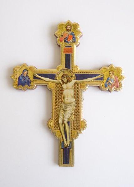 画像1: 板絵 壁掛け十字架 2828 (1)