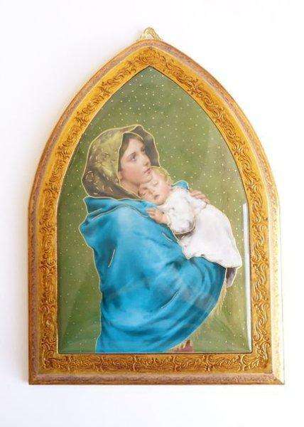 画像1: 壁掛板絵 街角のマリア (1)
