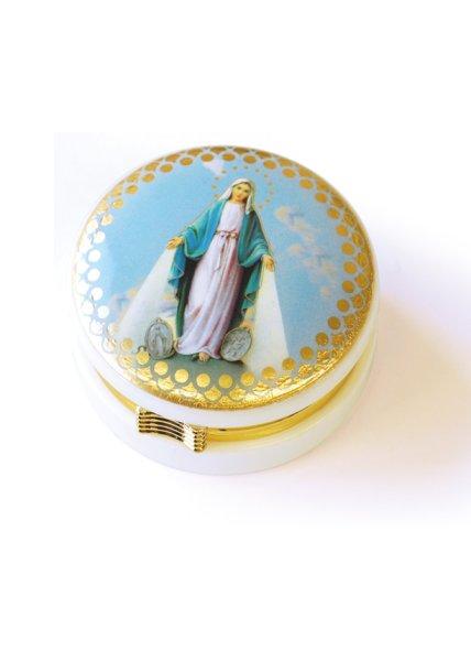 画像1: 小物入れ 丸型 無原罪の聖母 (1)