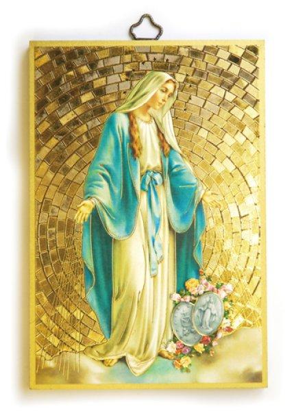 画像1: 壁掛板絵 無原罪の聖母 (1)