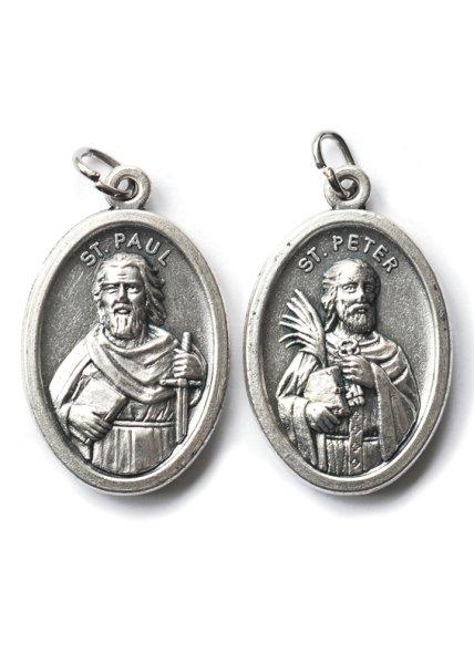 画像1: メダイ 両面 聖ペトロと聖パウロ (1)