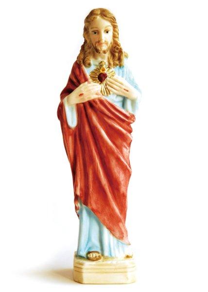 画像1: プラストマーブル製 み心のイエス像  (カラー) 15cm (1)