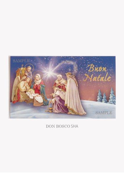 画像1: イタリア製クリスマスカード1枚タイプ封筒付 343-V.N.2 NB (1)
