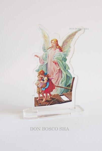 画像1: 卓上置物 アクリル製 守護の天使 (1)