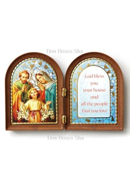 画像1: 卓上置物 2面板絵 聖家族 (1)