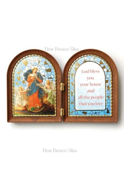 画像1: 卓上置物 2面板絵 結び目を解く聖母マリア (1)