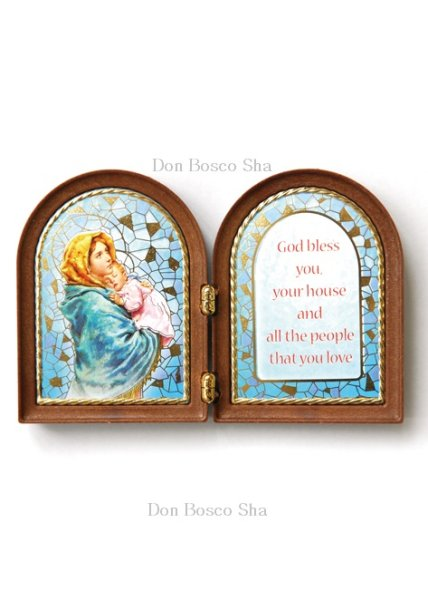 画像1: 卓上置物 2面板絵 街角のマリア (1)
