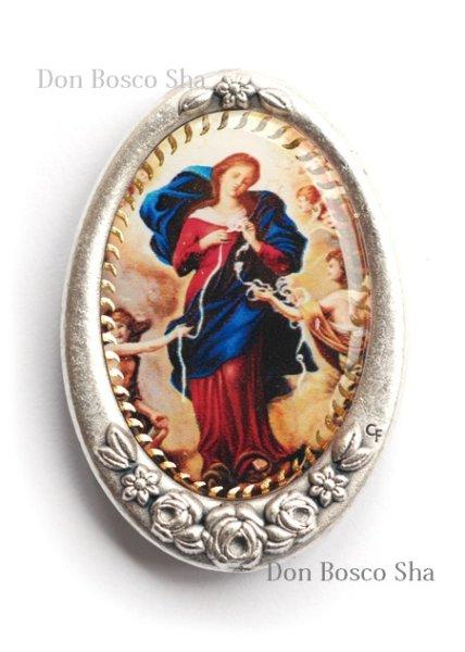 画像1: マグネット 結び目を解く聖母マリア  (1)