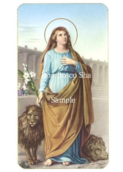 画像1: イタリア製 ご絵 聖テクラ 400-158 (1)