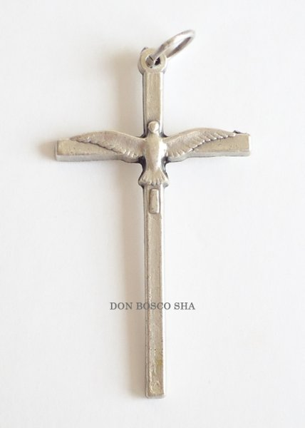 画像1: ミニ十字架 聖霊 ハト (1)
