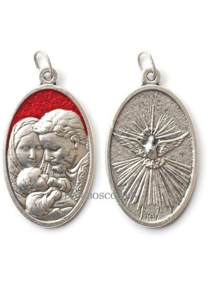 画像1: 聖家族と聖霊(鳩) 両面メダイ (1)