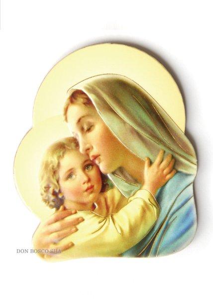 画像1: マグネット 聖母子(横向き) (1)