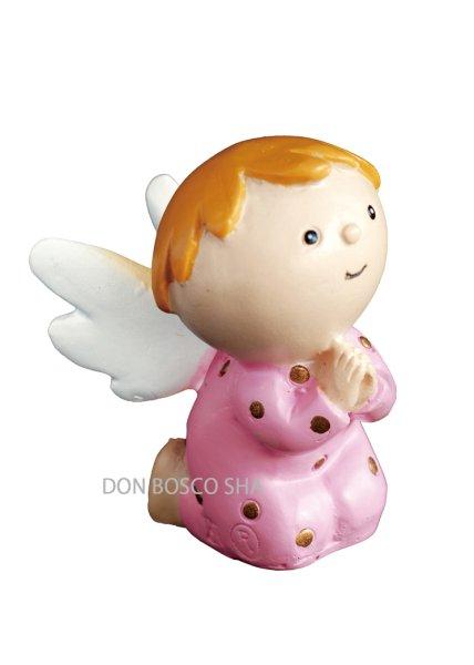 画像1: 卓上置物 天使 ピンク (1)