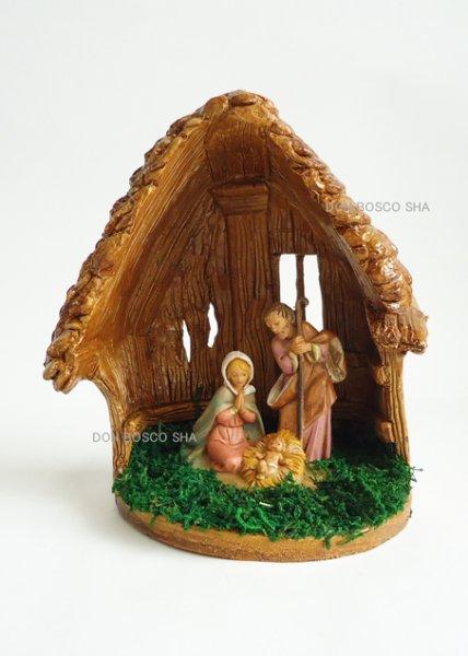 画像1: クリスマス聖品 卓上置物 樹脂製聖家族  P/1456 (1)