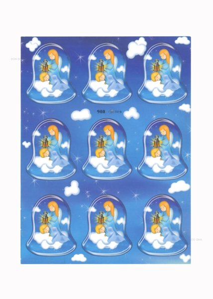 画像1: イタリア製シール ベル型 天使と幼子 (908) (1)