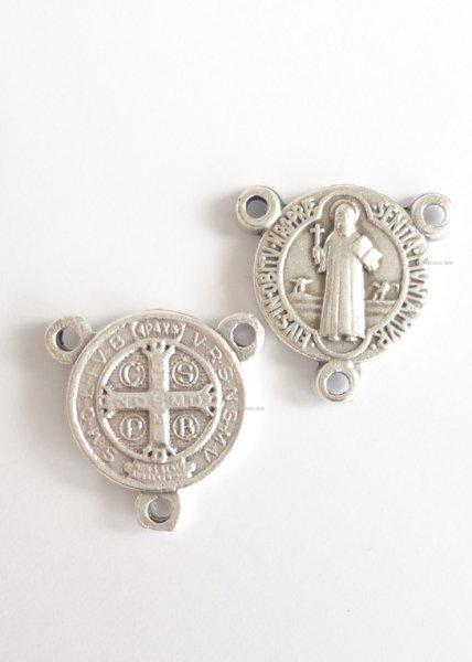 画像1: センタピース 聖ベネディクト 銀色 (1)