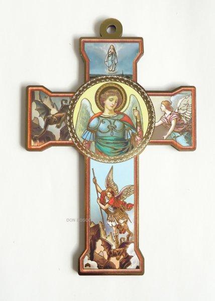 画像1: 板絵十字架  聖ミカエル  (1)