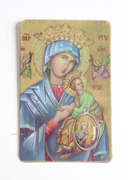 画像1: シールメダイ付ラミカード 聖母子イコン (1)