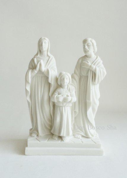 画像1: プラストマーブル製 聖家族像 H12cm (1)
