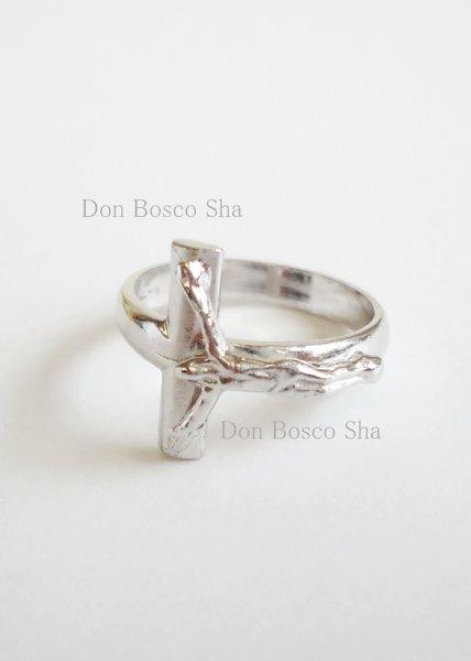 画像1: 指輪 シルバー925製  十字架付 10号 (1)