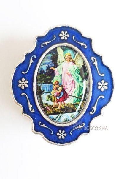 画像1: 小物入れ銀色(青) 守護の天使 (1)