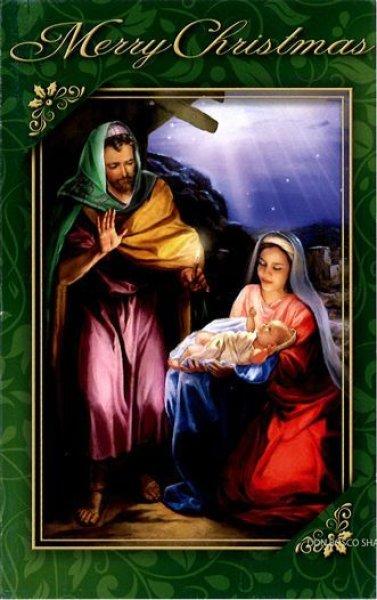 画像1: イタリア製二つ折りクリスマスカードNT4147-4 (1)