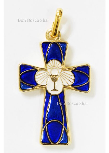 画像1: ミニ十字架 カリスとホスチア (1)