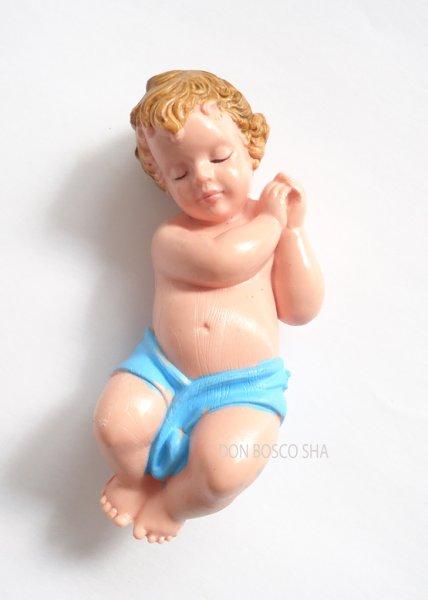 画像1: 樹脂製幼子 青 (大) H75mm (1)
