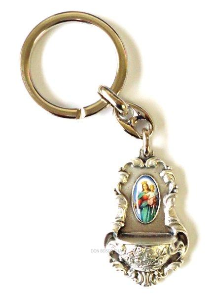 画像1: キーホルダー 聖水入れ型 扶助者聖母 (1)