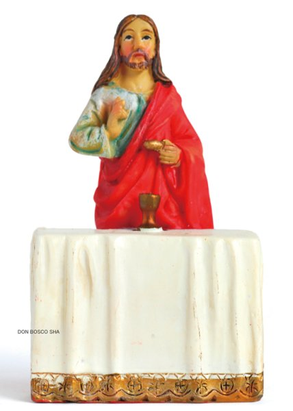 画像1: 樹脂製 聖体のキリスト像 カラー 70mm  (1)