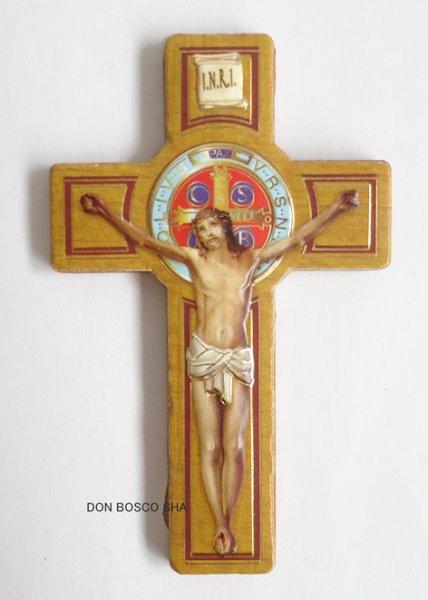 画像1: マグネット 聖ベネディクト十字架 カラー (1)