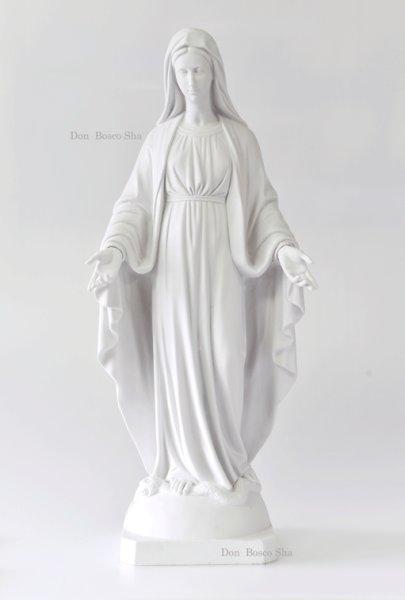 画像1: プラストマーブル製 無原罪の聖母像 (白) 800mm (908B) (1)