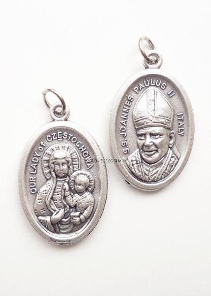画像1: メダイ ヨハネ・パウロ2世とチェストコワの聖母 (1)