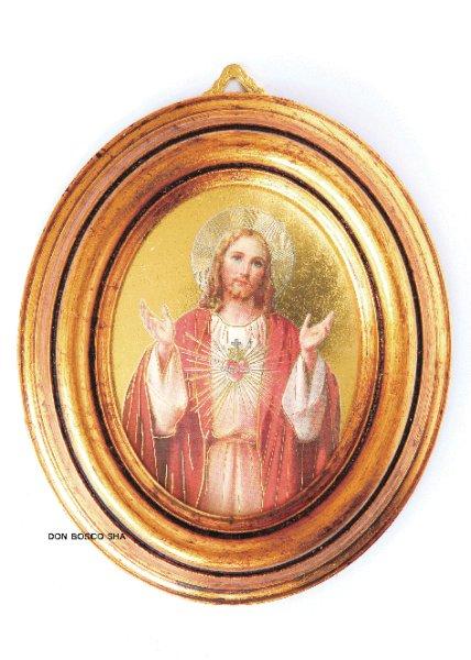 画像1: 壁掛け 楕円(卓上・壁掛け両用) み心のイエス (1)