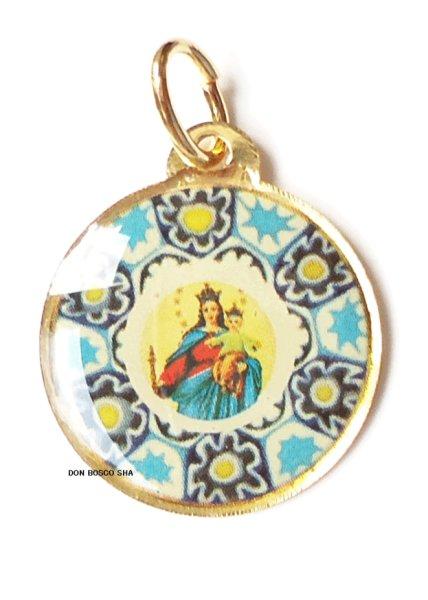 画像1: メダイ 扶助者聖母 丸型 (1)