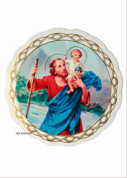 画像1: 窓用シール 聖クリストファー (1)