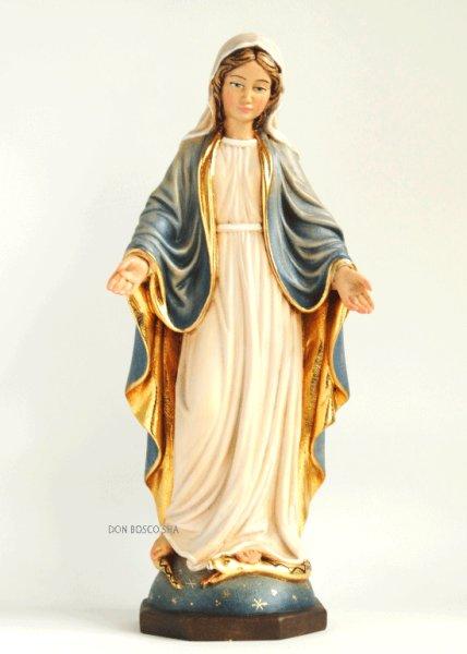 画像1: 木彫り 無原罪の聖母 29cm 色付 (1)