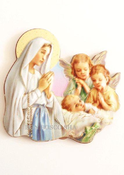 画像1: マグネット マリアと天使と幼子 (1)